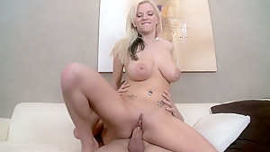 Young blondie with big natural tits