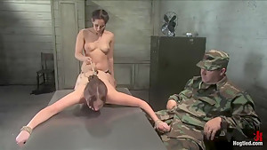 18 year old Michell Brown in her first bondage and first girl/girl scene.