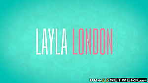 Attractive girls Layla London and Raylin Ann sharing cock