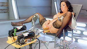 Incredible milf, fetish sex scene with best pornstar Veronica Avluv from Fuckingmachines