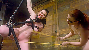 Exotic brunette, fetish porn video with amazing pornstars Claire Adams and Sybil Hawthorne from Whippedass