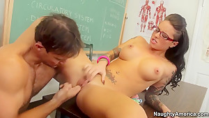 Teen hot babe Christy Mack fucks with her handsome teacher