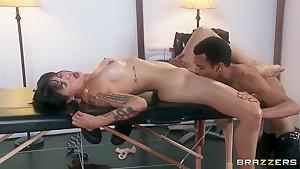 Skilled black lover slides his bird into Dana Vespoli