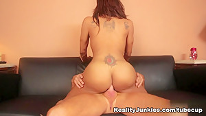 Horny pornstar Jessy Dubai in Crazy Shemale Guy Fucks Shemale, Shemale Latin porn movie