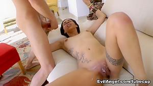 Exotic pornstars Nacho Vidal, Chris Diamond in Amazing Threesomes, Facial porn clip