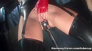 Amazing pornstars Michelle Thorne, Lolly Badcock, Jasmine Webb in Horny Black and Ebony, Latex sex video