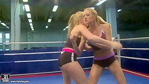 Katalin and Lily Love are having nude catfight