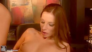 Debbie White enjoying a big black cock inside of her wet pussy