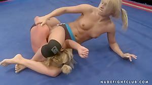 Brandy Smile and Kathia Nobili in lesbo fight