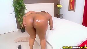 Big assed Layla Monroe rides hard cock