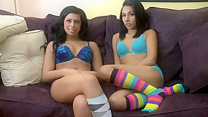 Teen lesbo action
