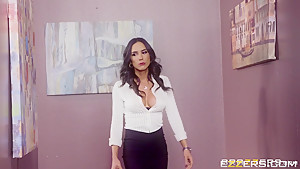 Tia Cyrus In Office Cafuckteria
