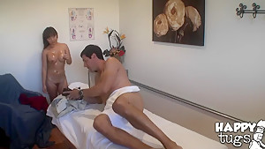 Jade and  Shane in crazy action with a very hot massage