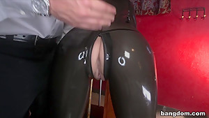Busty Dominatrix Receives Creampie In Her...