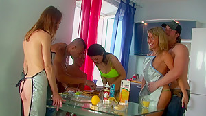 Betsy & Kiki & Sweety & Tess in xxx college girls like lusty group fucking