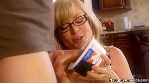Mrs. Hartley catches her son's friend, Dane