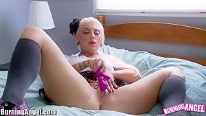 BurningAngel Sexy Emo Babe Fucks Herself with Toy