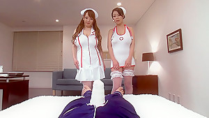 Sex Therapy With Nurse Hitomi and Ria Sakuragi