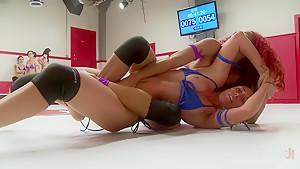 Sexy Daisy Ducati takes on Rilynn Rae for one round of sexual Submission in the mission