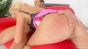 Slutty blonde Katy C gets her ass demolished