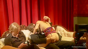 Masquerade Orgy with Nine Slaves,100 Horny Guests, Part Two