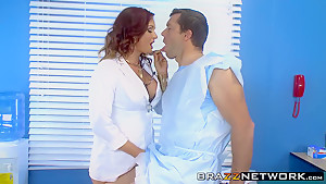 Busty doctor Tory Lane gets banged hard by her patient
