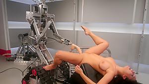 Horny fetish porn clip with best pornstar Aliana Love from Fuckingmachines