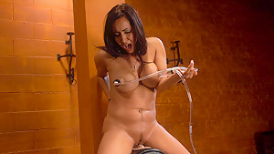 Incredible squirting, fetish porn clip with hottest pornstar Isis Love from Fuckingmachines