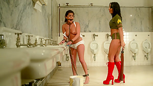 Fabulous brunette, fetish sex movie with amazing pornstars Sandra Romain and Michele Avanti from Whippedass