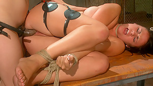 Hottest fetish, brunette porn movie with amazing pornstars Ashli Ames and Bobbi Starr from Wiredpussy
