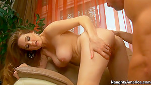 Incredible hottie Allison Moore fucks with her father's business friend Johnny Castle