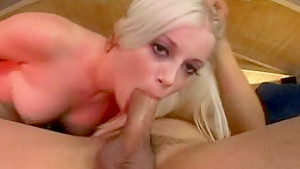 Hottest pornstar Charlotte Stokely in exotic blowjob, blonde adult clip
