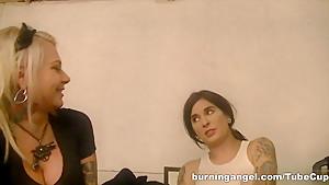 Exotic pornstars Tommy Pistol, Larkin Love, Wolf Hudson in Horny HD, Hardcore adult movie