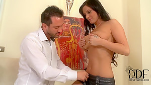 Busty Sheila Grant is going to give fellatio