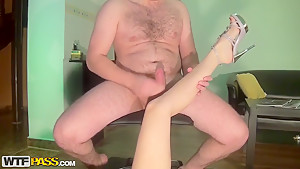 Petite Anka rides on stiff cock and gets creamed