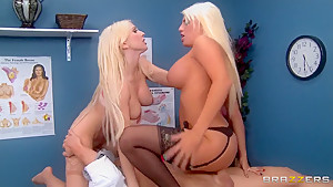 Dual blonde fun with Jacky and Christie