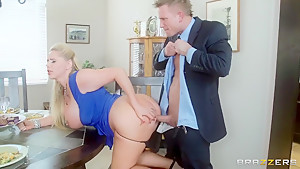Bill Bailey drills Karen Fisher & Sammy Brooks