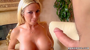 Awesome blonde Evita gets examined and fucked