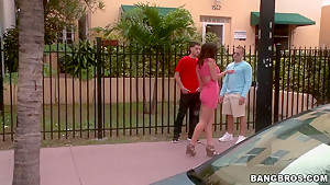 Brunette whore Jayden Jaymes get in to bang bus