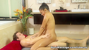Incredible pornstars Robby Echo, Yasmine De Leon in Amazing Massage, Interracial xxx scene