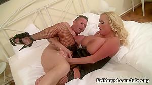 Exotic pornstars Sharon Pink, David Perry in Hottest MILF, Cumshots sex scene