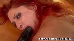 Exotic pornstar Tallulah Thorn in Hottest Fisting, Lesbian sex clip