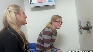 Mom Sindy Lange and Penny Pax at the BBC Glory Hole