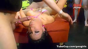 Horny pornstar Jacky Lawless in Crazy Cumshots, Gangbang sex clip