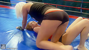 A fight between Leyla and Sandra as they strip