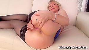 Exotic pornstar Nina Hartley in Fabulous Masturbation, Big Tits adult clip