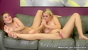 Exotic pornstars Jojo Kiss, Natalia Starr in Fabulous Big Tits, Lesbian adult movie
