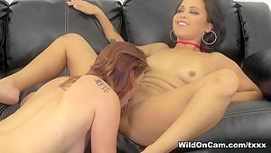 Hottest pornstars Mia Austin, Karlie Montana in Amazing Natural Tits, Lesbian sex movie