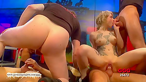 Incredible pornstars in Fabulous Bukkake, German xxx video