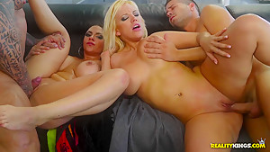 Fabulous pornstars Marta Lacroft, Blondie Fesser, Alberto Blanco in Best Facial, Latina porn scene